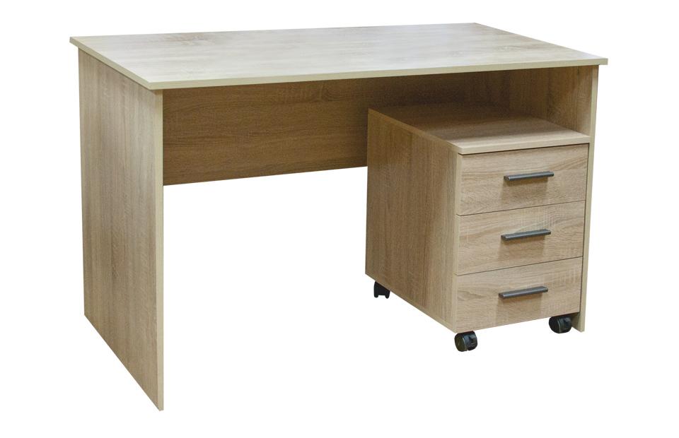 Стол сп-02 с тумбой тм-01 120х63 h75см мебельград мебельный .